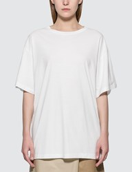 Maison Martin Margiela Mm6 Oversized Logo T Shirt White