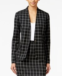 Tommy Hilfiger Windowpane Jacket Black Ivory