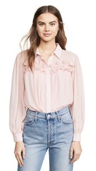 Endless Rose Chiffon Button Down Top Powder Pink