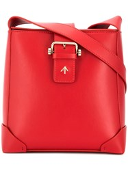 Manu Atelier Trapeze Bag Red