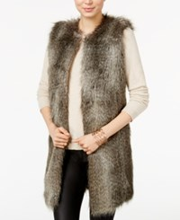 Armani Exchange Faux Fur Vest Striped Red