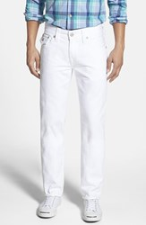 True Religion Men's Big And Tall Brand Jeans 'Geno' Straight Leg Jeans Optic White