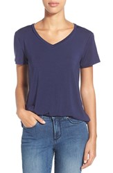 Women's Halogen Modal Jersey V Neck Tee Navy Peacoat