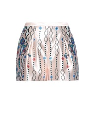 Peter Pilotto Geo Abstract Print Silk Shorts