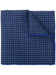 Canali Textured Pocket Square Blue