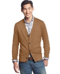 Tommy Hilfiger Signature Solid Cardigan Camel Heather