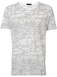 Atm Anthony Thomas Melillo Striped T Shirt White