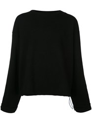 Unravel Project Crew Neck Sweatshirt Black