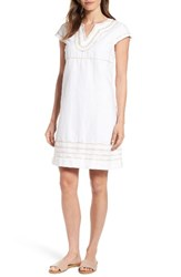 Tommy Bahama Women's Embroidered Linen And Cotton Shift Dress