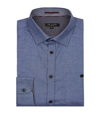 Ted Baker Taccle Contrast Cuff Collar Shirt Male Blue