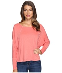 Lamade Brigid Top Spiced Coral Women's Long Sleeve Pullover Orange