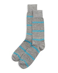 Bloomingdale's The Men's Store At Wide Stripe Socks Light Grey