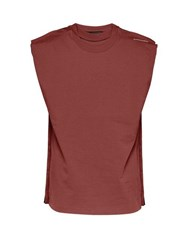 Y Project Multi Layered Cotton Tank Top Burgundy