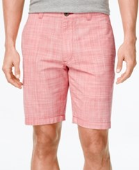 Club Room Men's Big And Tall Micro Check Flat Front Shorts Only At Macy's Fire