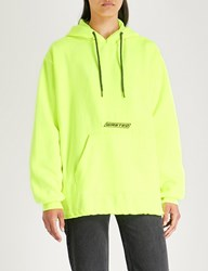 Wasted Paris Northern Logo Feature Cotton Jersey Hoody Neon Yellow