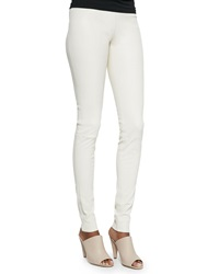 Alice Olivia Leather Leggings With Back Zip