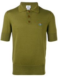 Vivienne Westwood Man Embroidered Logo Polo Shirt Green