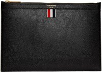 Thom Browne Black Small Zipper Tablet Holder