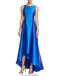 Adrianna Papell Sleeveless High Low Ball Gown Blue