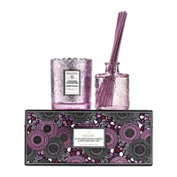 Voluspa Scalloped Edge Candle And Diffuser Gift Set Japanese Plum Bloom