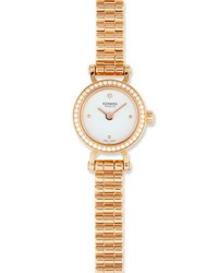 Herm S Fauborg Tpm Watch With Diamonds In 18K Rose Gold
