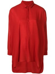 Daniela Gregis Oversized Boxy Shirt Red