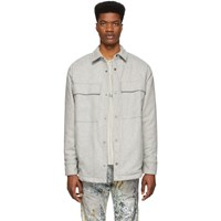 Fear Of God Grey Wool Shirt Jacket
