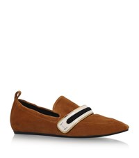 Lanvin Leather Mocassin Drivers Female Tan
