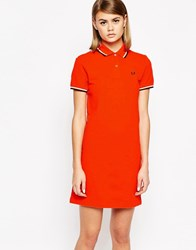 Fred Perry Twin Tip Polo Dress Red