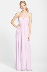 Women's Donna Morgan 'Laura' Ruched Sweetheart Silk Chiffon Gown Petal
