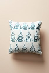 Anthropologie Kanica Indoor Outdoor Pillow Blue Motif