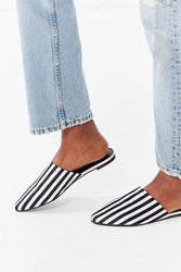 Urban Outfitters Uo Striped Mule Black White