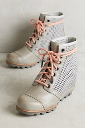Anthropologie Sorel 1964 Premium Wedge Boots Taupe