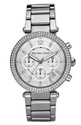 Michael Michael Kors Women's Michael Kors 'Parker' Chronograph Bracelet Watch 39Mm Silver