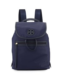 Tory Burch Slouchy Nylon Backpack Tory Navy