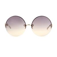 Linda Farrow 313 Round Sunglasses White Gold Grey Gradient Lens