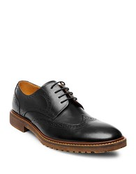 Steve Madden Leather Wingtip Oxfords Black