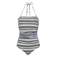 John Lewis St Ives Bandeau Swimsuit Navy White