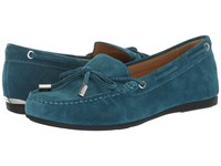 Michael Michael Kors Sutton Moc Luxe Teal Sport Suede Shoes Green