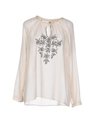 Local Apparel Shirts Blouses Women Beige