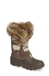 Woolrich Ice Cougar Waterproof Knee High Winter Boot With Faux Fur Trim Falcon Wool