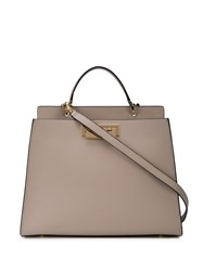 Zac Posen Earthette Double Compartment Satchel Grey