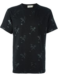 Maison Kitsune Fox Print T Shirt Black
