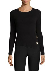 Each X Other Button Rib Knit Sweater Black