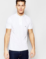 Tommy Hilfiger Polo In Slim Fit White White