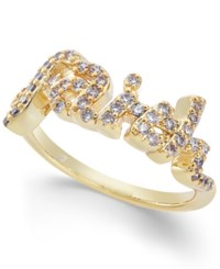 Joan Boyce Crystal Faith Ring Gold