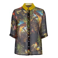 Klements Mildred Shirt In Volcano Print Black