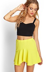 Forever 21 Textured Knit Skater Skirt