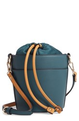 Chelsea 28 Chelsea28 Izzy Faux Leather Bucket Bag Green Green Wood