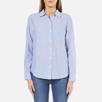 Levi's Women's Sydney One Pocket Boyfriend Shirt Tabla Original Stripe Blue